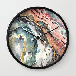 Abstract Circular Geode Watercolor Wall Clock