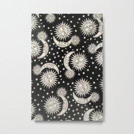 Moon & Sun Metal Print