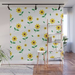 Tiny Sunflowers Wall Mural