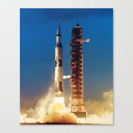 "Apollo Saturn V ""LIFTOFF"" 1967 Canvas Print"