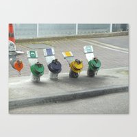 pocket fuel Canvas Prints featuring fuel colours by Martynb