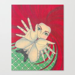 in the bathroom Canvas Print