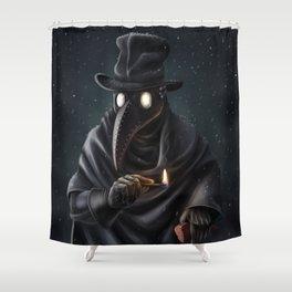 Plague doctor Shower Curtain
