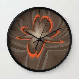 Wood flower 2 Wall Clock