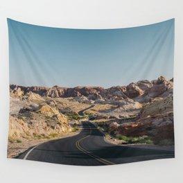 Windy Desert Road Wall Tapestry