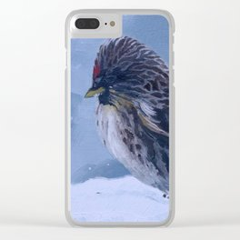 Redpoll Snowstorm Clear iPhone Case