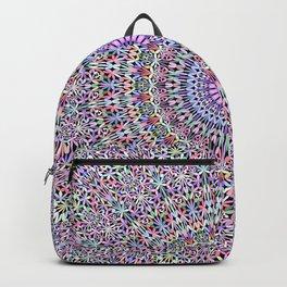 Pastel Jungle Garden Mandala Backpack