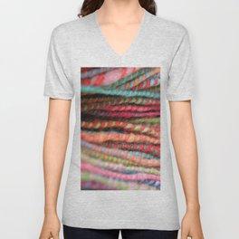 Handspun Yarn Color Pattern by robayre Unisex V-Neck