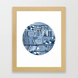 Circle Pattern Blue Framed Art Print