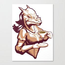 Stigimoloch tea time Canvas Print