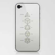 The Platonic Solids iPhone & iPod Skin