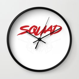 Paintball Squad Paintball Player Paintball Marker Gift Wall Clock