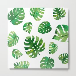 Monstera Plant Metal Print