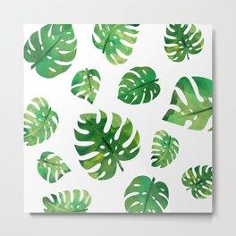 Monstera Plant Metal Print