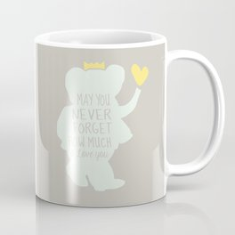Babar inspired-May you never forget how much I love you Coffee Mug