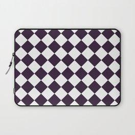 Diamonds - White and Dark Purple Laptop Sleeve