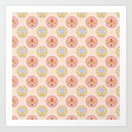 Sailor Moon broach Pattern Art Print