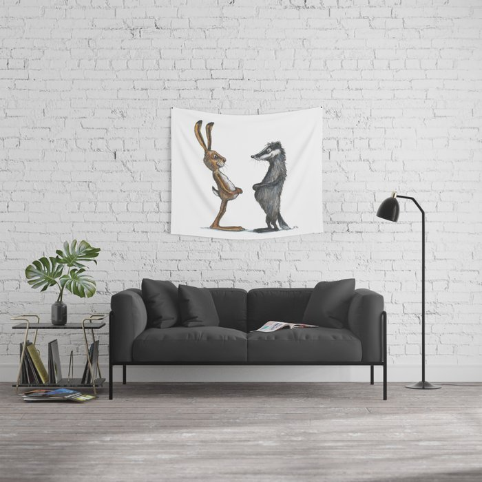 Hare & Badger Wall Tapestry
