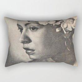 1946 Billie Holiday New York City Town Hall Concert Concert Poster Rectangular Pillow