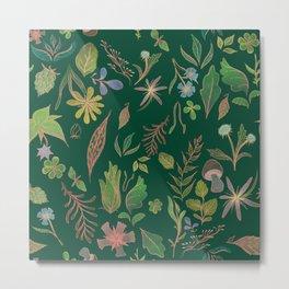Emerald Flora Metal Print