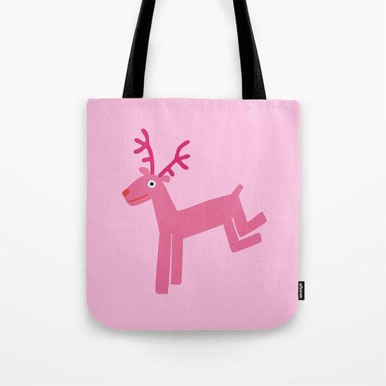 Reindeer-Pink Tote Bag