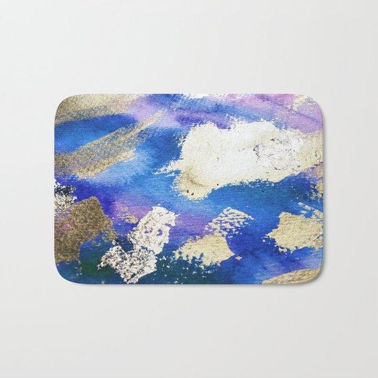 Gold Ocean Abstract Modern Design Bath Mat