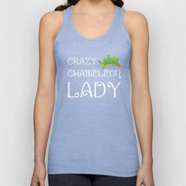 Crazy Chameleon Lady Reptile Animal Lover T-Shirt Unisex Tank Top