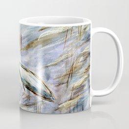 Egret in Blue Coffee Mug