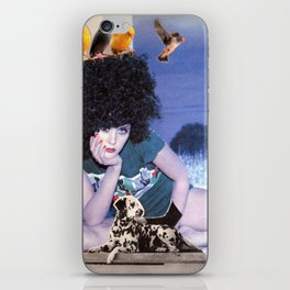 The girl with a bird's nest in her hair iPhone Skin