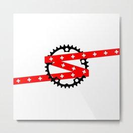 Schweiz Suisse Svizzera Svizra Helvetica Metal Print