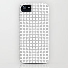Small Diamonds - White and Silver Gray iPhone Case
