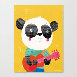 Guitar Panda Canvas Print