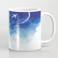 flight Mugs featuring Flight by Anna Dittmann