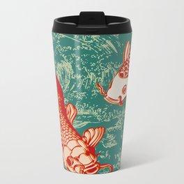 Japanese Koi Design Metal Travel Mug