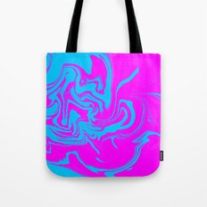 Blue and pink swirls  Tote Bag