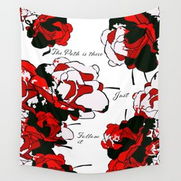 Floral | The Path is There Wall Tapestry