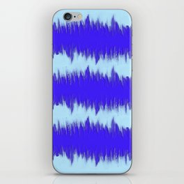 Two Tone Blue Wave iPhone Skin