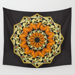 Kaleidoscope of butterflies and flowers Wall Tapestry