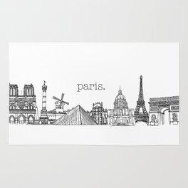 Paris Landmarks by the Downtown Doodler Rug