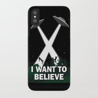 i want to believe iPhone & iPod Cases featuring I want to believe by BomDesignz