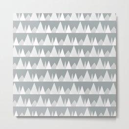 Scandinavian Trees | Ultimate Gray Metal Print