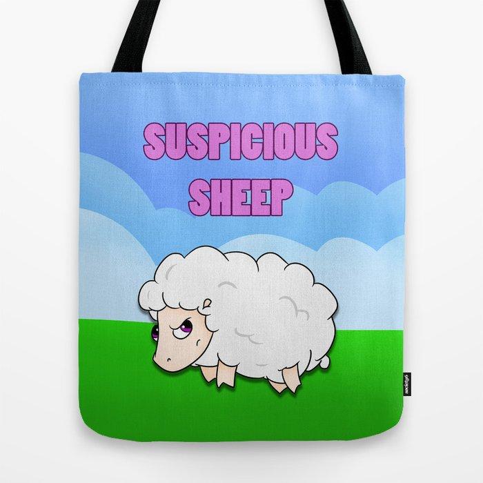 Suspicious Sheep Tote Bag by afropig | Society6