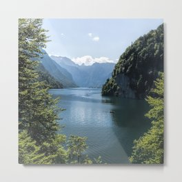 Germany, Malerblick,Koenigssee Lake III- Mountain Forest Europe Metal Print