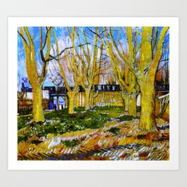 Avenue of Plane Trees near Arles Station, Vincent van Gogh Art Print