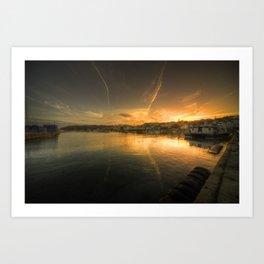 St Peter Port Sunset  Art Print