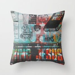 King Jesus Throw Pillow
