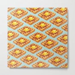 Waffle Pattern Metal Print