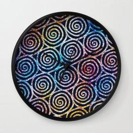 Spiral Tie Dye Batik Wall Clock
