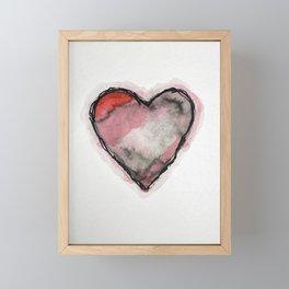 Stained Heart Framed Mini Art Print