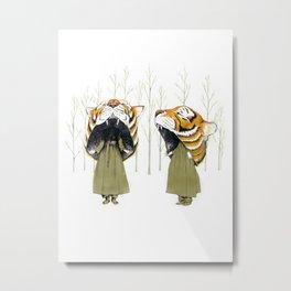 Tigerhead Metal Print